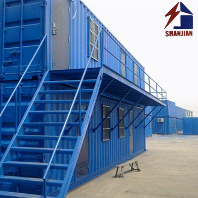 Temporary Staff House Prefabricated Two Storey Container Homes Houses