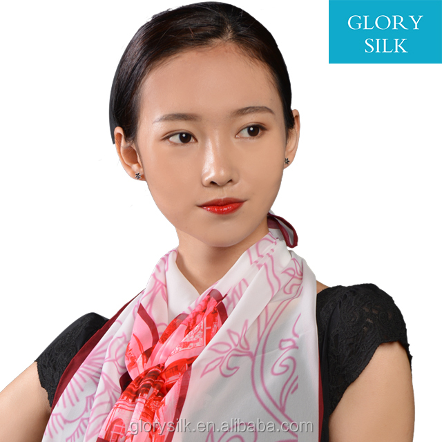 New arrival wholesale bulk chiffon 90*90cm silk scarves for lady