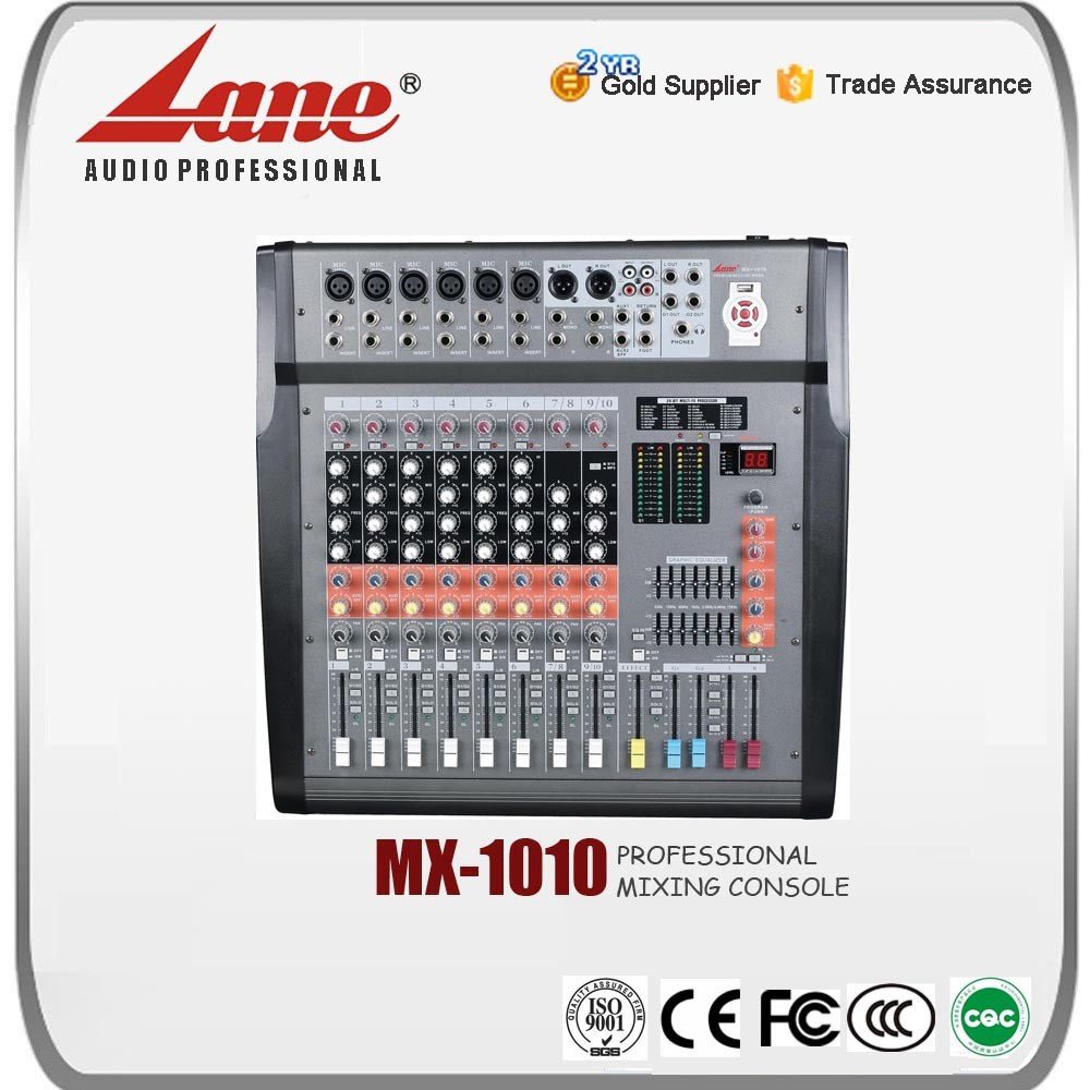 Lane audio mixing console MX - 1010