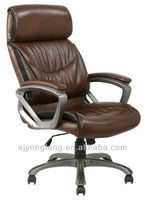 High back executive leather Chairs with headrest and arnrests