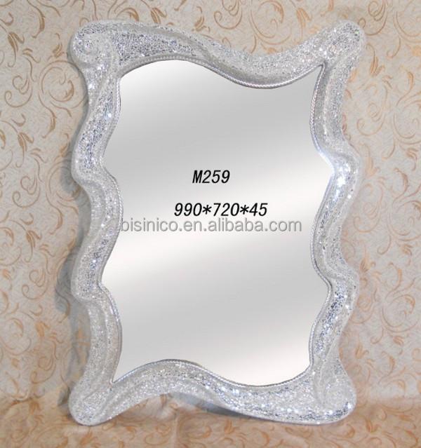 novedad nueva llegada onda bordes espejo del saln venta caliente espejos decorativos bfm