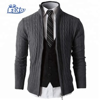 Mens Slim Fit Full-zip Cardigan Sweaters