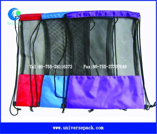wholesale net drawstring backpack bag