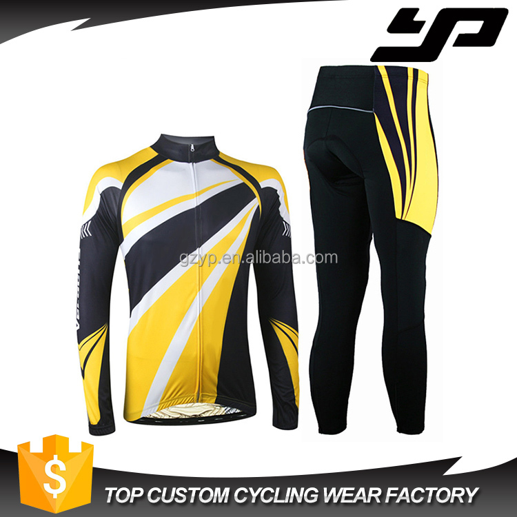 high quality custom design mens personalised yellow cycling jersey with sublimation