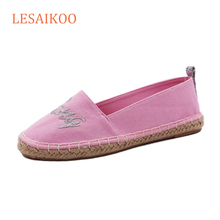 Wholesale Factory OEM Embroidery Canvas Women Espadrilles Shoes