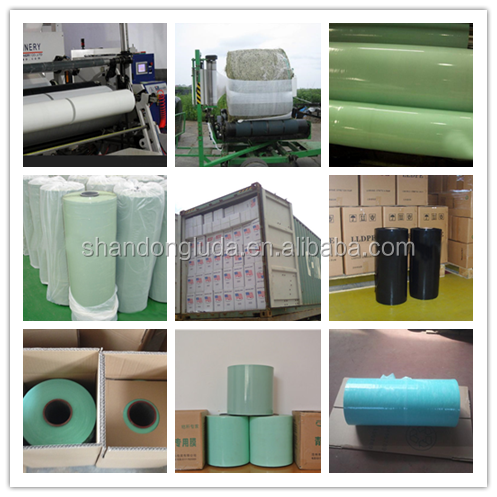 green bale grass silage stretch wrap film PE Hay white Silage Wrap Stretch Film for baler