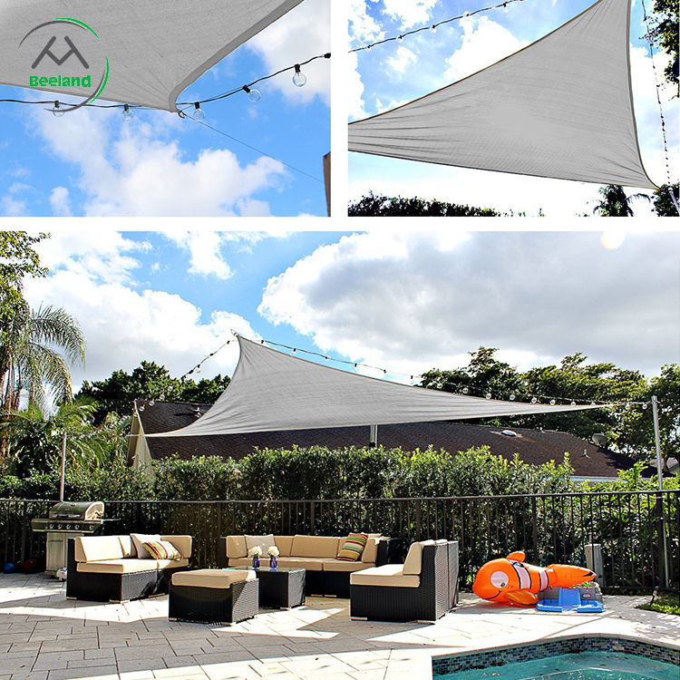Hot Sale Outdoor UV Resistant Triangle Sun Shade Sail