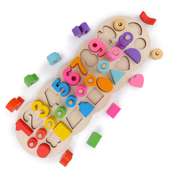 lagopus Montessori Materials Math Toy Learning To Count Numbers Digital Shape Match Learning education Toy for Children
