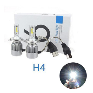 Auto spare parts car led headlight India price 12v 24v C6 h4 lumileds automotive led headlight 9005 9006 with dust proof