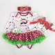 PHB10341 2016 western hot sale baby outfits Christmas sets