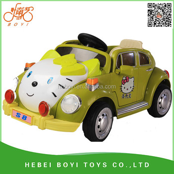 electric car for kids with remote control hello kitty children car from boyi company