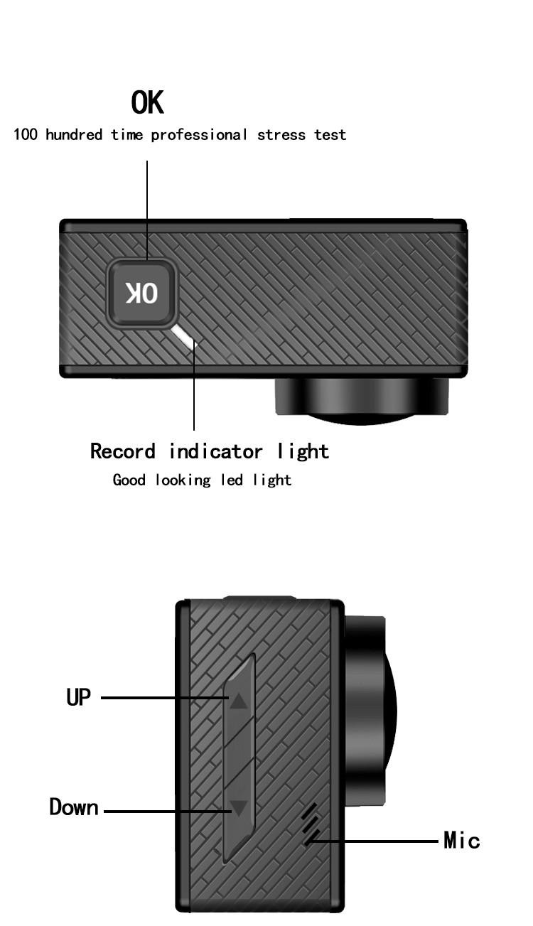 Hdking Q5hs J9000 4k Hd Wifi Sports Action Camera 2.0\