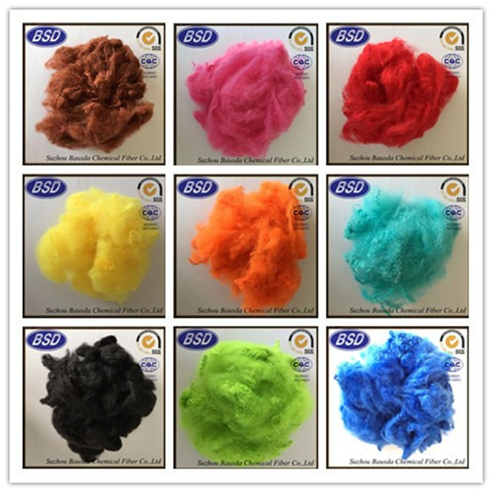 down-like recycled polyester staple fiber