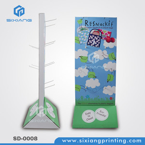 Cardboard Peg Stand Child Product Display, Corrugated Hook Display Stand