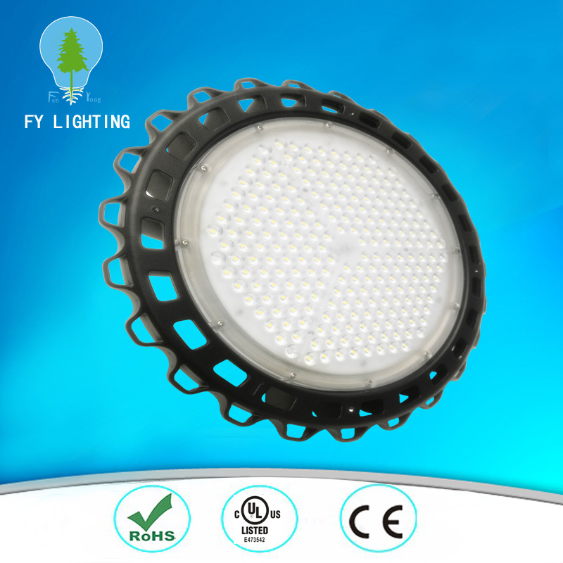 150lm/w UFO LED highbay light with 5 years warranty, 100w 200w led ufo high bay light 150lm/w with ul