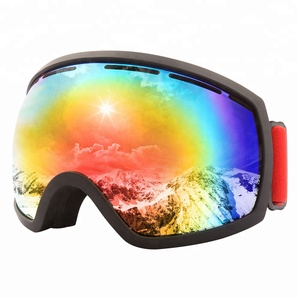 2018 China manufacturer supply High Quality Vacuum Coating Lens Anti Fog Designer Snow Ski Goggle with good price
