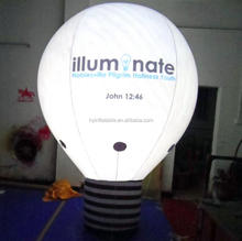 Led licht opblaasbare giant helium lamp <span class=keywords><strong>ballon</strong></span>/<span class=keywords><strong>PVC</strong></span> opblaasbare lamp model voor reclame