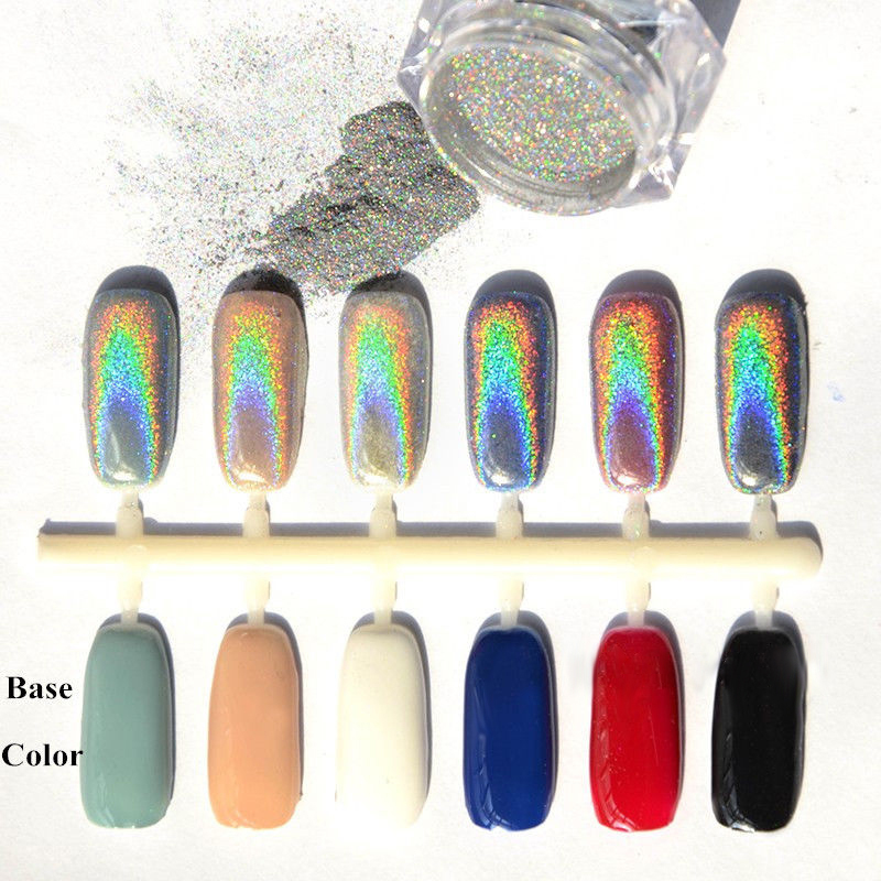 Best Holographic Nail Powder: 2016 New 2g/Box Holographic Laser Powder Punk Nail Glitter