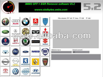 Immo Off-egr Remover V5 2 - Buy Carsoftware V5 2 Immo Off Ecu Decoding  Possibility To Make Virgin The Immo In Order To Recode According To The  Value