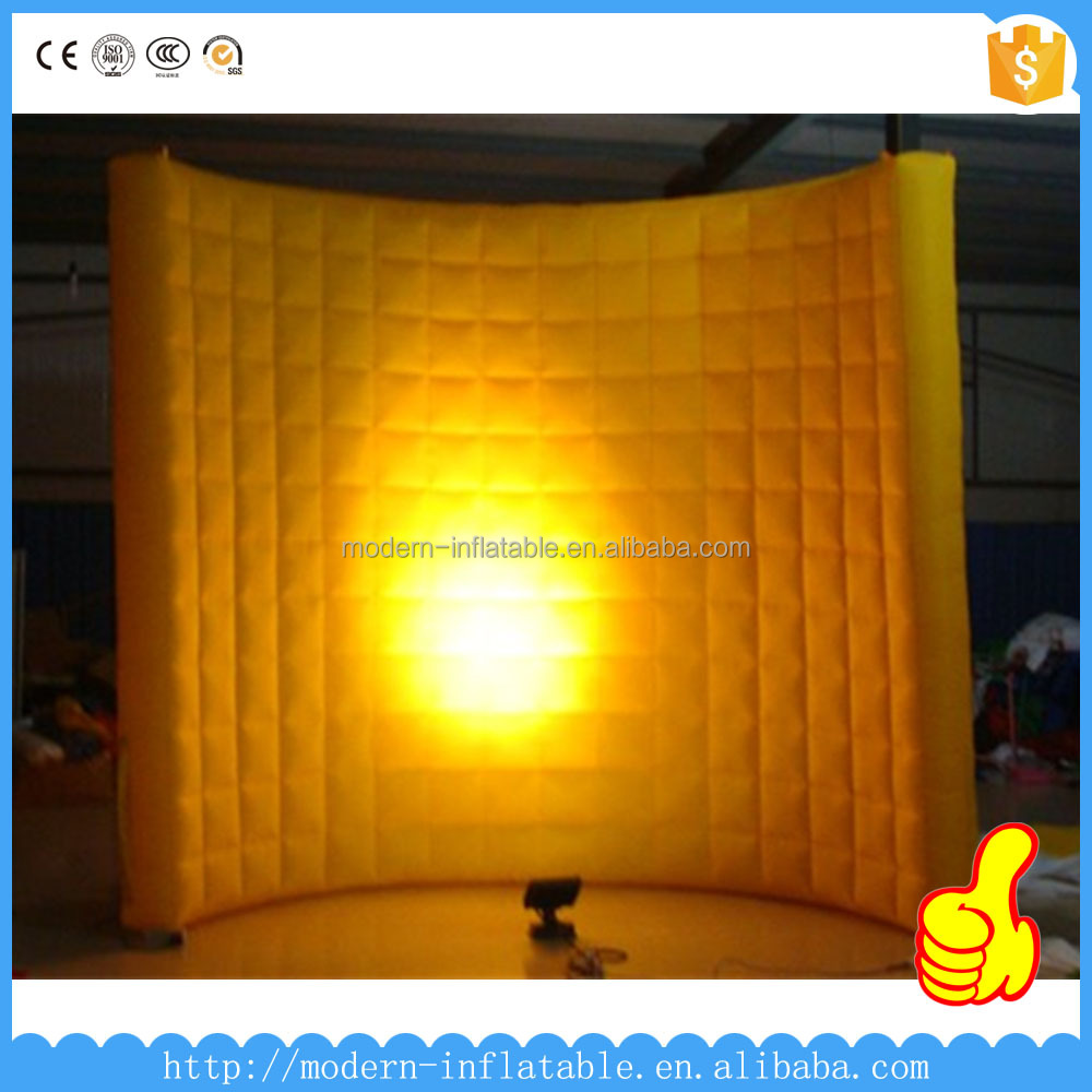 Inflatable portable photo booth, led lighting advertising inflatable air wall