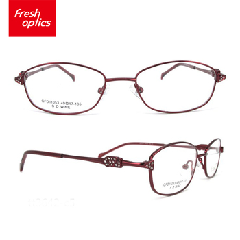 2018 Wholesale Small Size Red Metal Glasses Frames Latest Fashion ...
