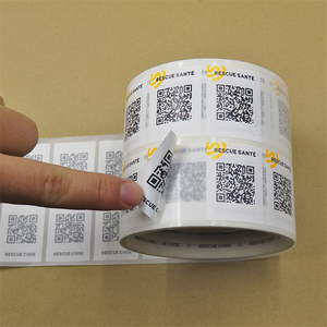 Custom Strong Self-adhesive QR Stickers Labels PVC Vinyl Barcode Sticker Roll