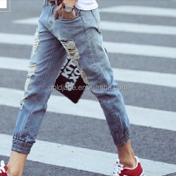 Wholesale Men Latest Design Elastic Hem Funky New Style Jeans Buy