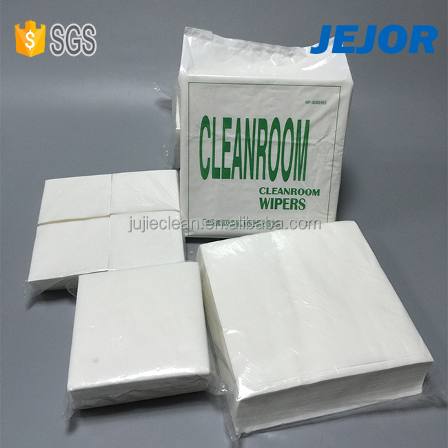 4X4inch Cellulose PET 50gsm non-silicone oil cleanroom wipes