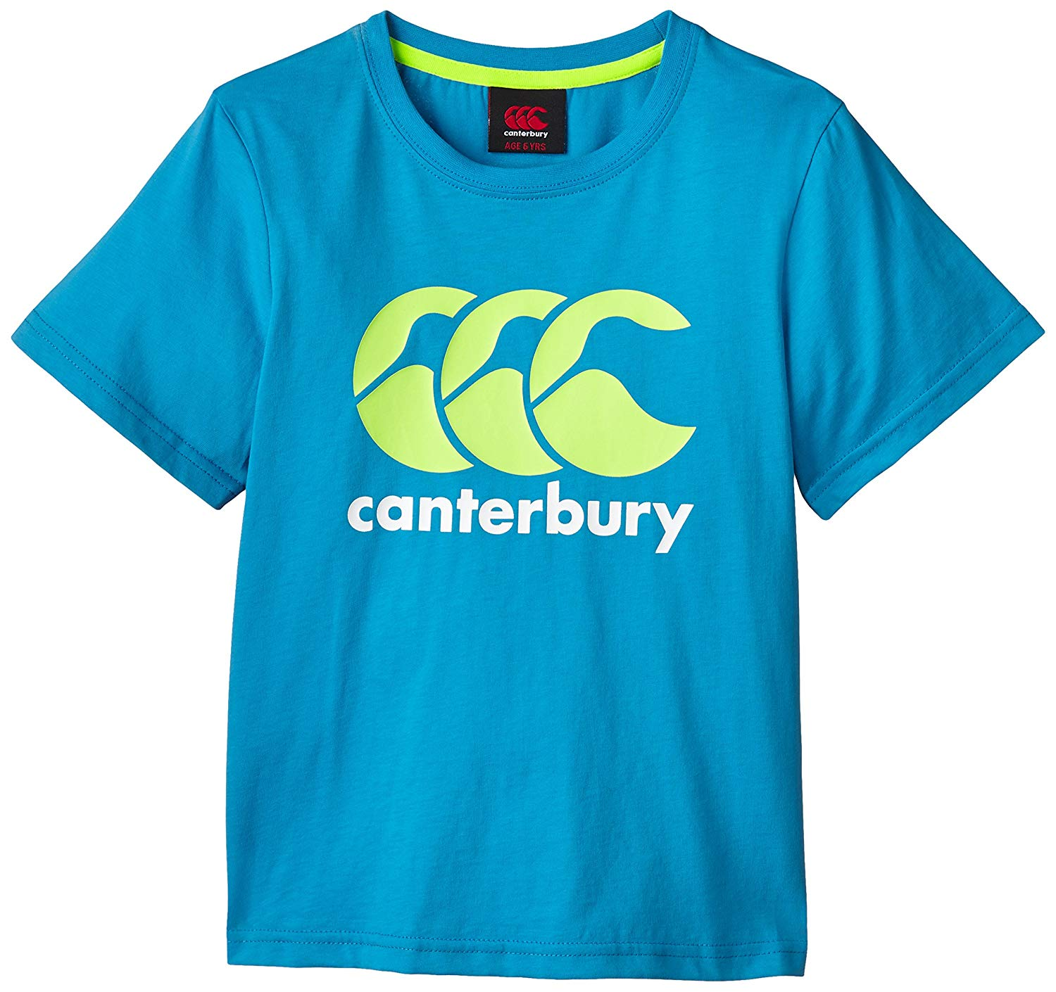 CANTERBURY PINK CCC LOGO BLUE TEE SHIRT SIZE BOYS 10 YEARS BRAND NEW WITH TAGS