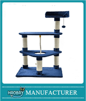 NEW Cat Tree Tower Condo Scratcher Furniture Luxury Kitten House Cat Toy Blue