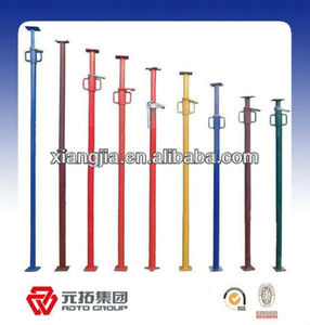 Q345 painted scaffolding steel shoring prop,constructions Q235 scaffold adjustable height steel props