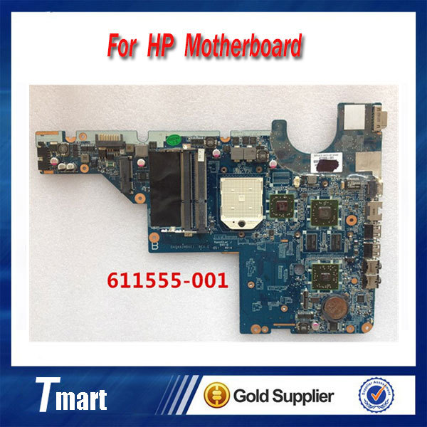 for hp CQ42 G42 CQ62 G62 611555-001 laptop motherboard non-Integrated with 8 video chips 100% tested 45 days warranty