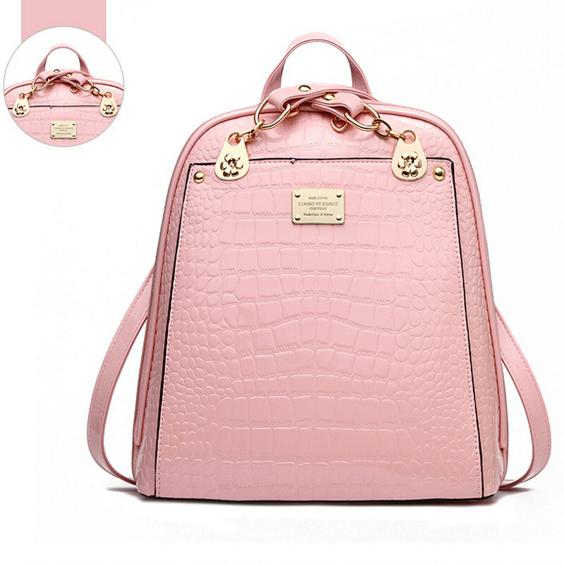 2015 new women backpack school bags for teenagers girls bolsa feminina mochila leather school girl backpack mochilas leather bag