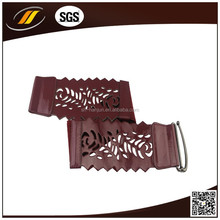 Fashion Woman PU Leather Belt in Metal Pin Buckle , Ladies Elastic Belt for Wholesale