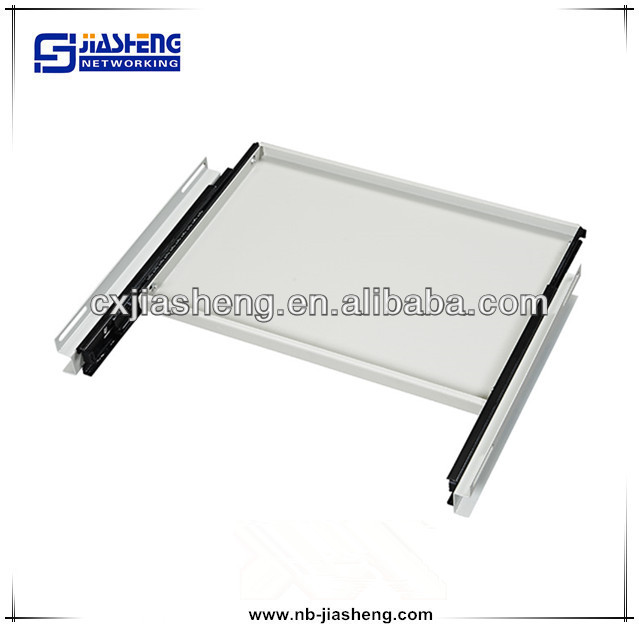19 inch network cabinet sliding shelf with mounting ear