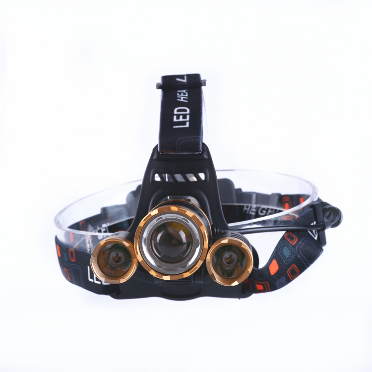 XPE T6 400 Lumen Led Rechargeable Zoom Waterproof 3 LED sensor led hunting headlamp new headlamp