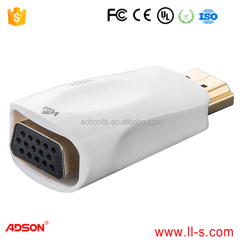 white vga to hdmi1.4 adapter with audio output
