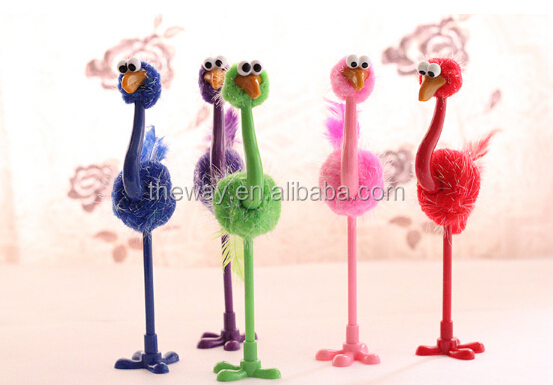 Feathery Ostrich Novelty Pens