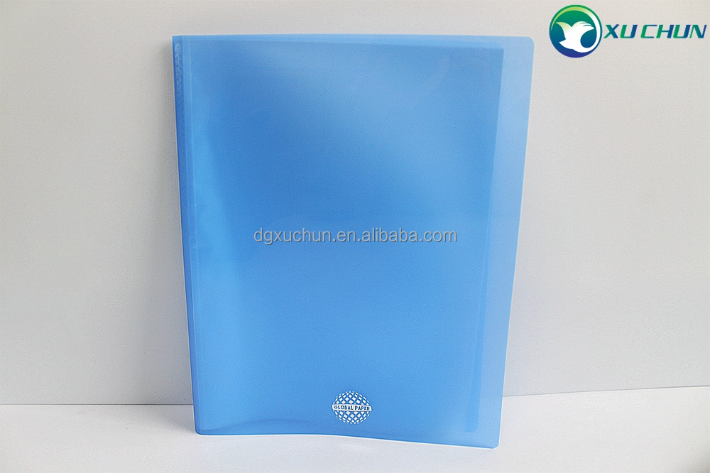 China supplier A4 40 pockets document books PP material cheap pocket books clear pockets display book in stock