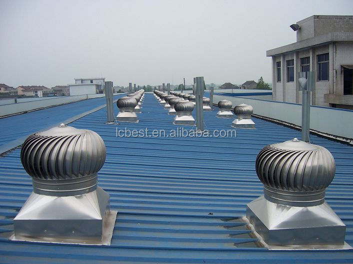 Air Turbo Ventilator : Wind driven office building attic turbine exhaust fan