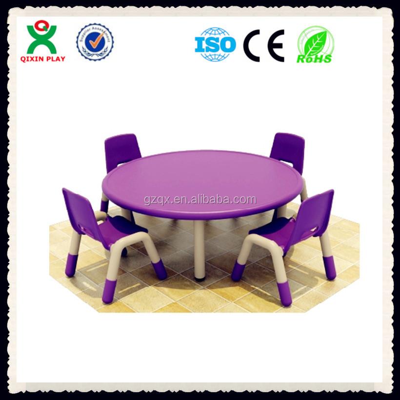 Elegante colore viola sedia di plastica e tavola rotonda compiti a casa bambini tavolo bambini - Fermatovaglia per tavoli di plastica ...