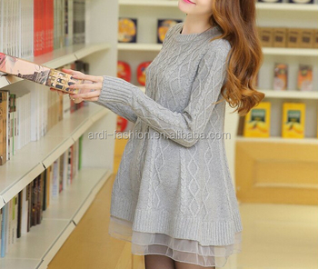 fd10675ebfa women plus size fancy modern knitted pregnant dress sweater lace maternity  clothes