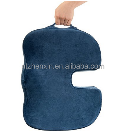 Washable Cover High Responsive Memory Foam Tailbone and Sciatica Pain Relief Orthopedic Coccyx Back Support Seat Cushion