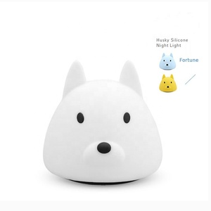 Usb Rechargeable Children Night Sensitive Tap Control Light Led Safe&Cute Lovely Dog Lamp