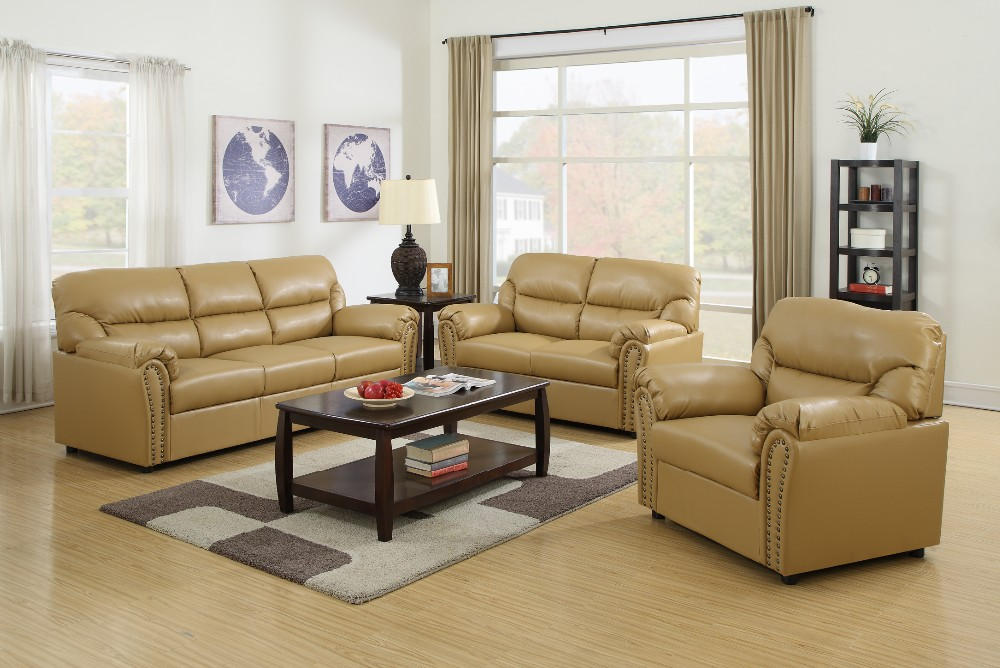 Living Room Furniture Factory Price Cheap Leather Sofa Set