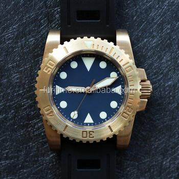 9fe4b154 Заводская цена роскошные изогнутые сапфировое стекло 42 мм автоматические  часы Винтаж Бронзовый наручные часы