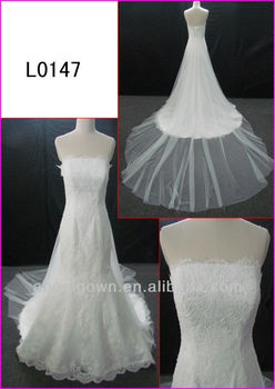 2014 guangzhou real corset back tulle a line wedding gowns for Guangzhou wedding dress market