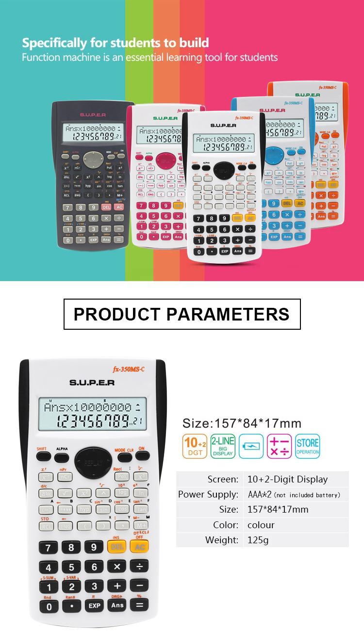 hot selling multi-function 2.4 inch scientific calculator
