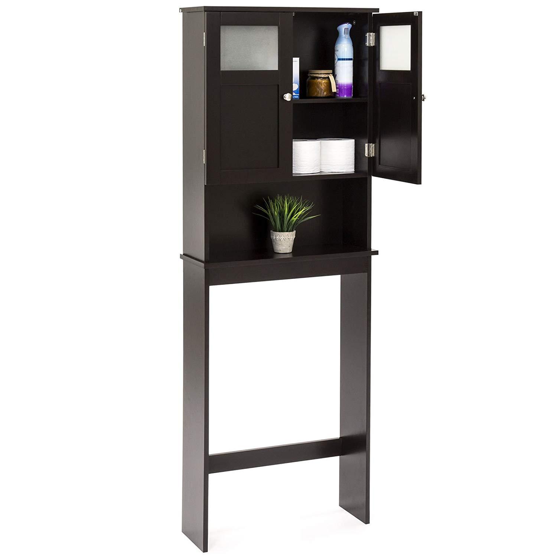 Alek...Shop Toilet Storage Cabinet Organizer Bathroom Tower Rack Wooden Over Space Saver (Espresso)