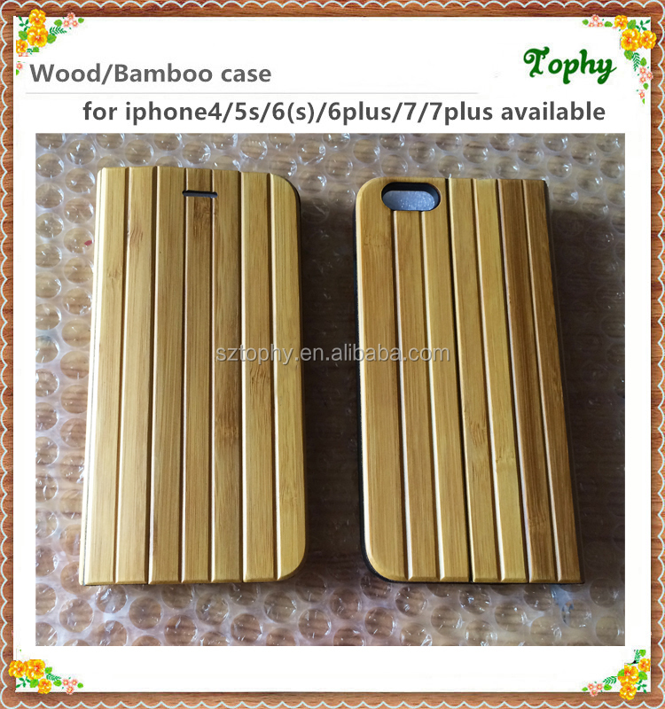 Custom logo Flip wood phone case with wallet, bamboo case with card slot and magnetic design for iphone 6 6s 6 plus